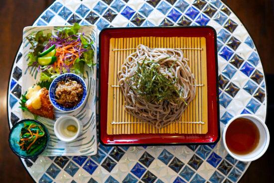 十割蕎麦(+惣菜セット) ¥1100